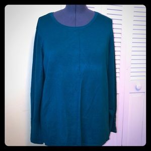 NWT Teal crew neck sweater 2X